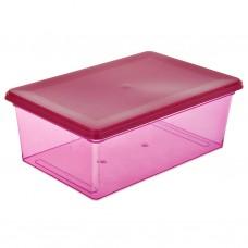 Caja organizadora ultra liviana de plástico 6 L Energía Fucsia Rimax