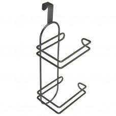 Porta papel higiénico de acero plastificado 2 servicios