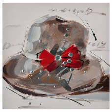 Cuadro Sombrero Lazo 30 x 30 cm