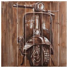 Cuadro de madera Vespa 80 x 80 cm