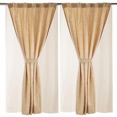 Juego de 6 piezas cortinas jacquard, velos suizos y cordones