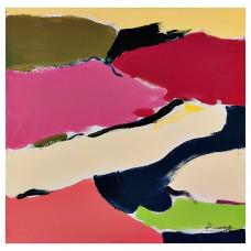 Cuadro Abstracto Multicolor 60 x 60 cm