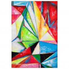 Cuadro Abstracto Multicolor 100 x 70 cm