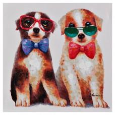 Cuadro Perros con lentes