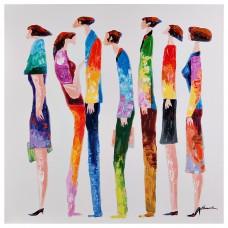 Cuadro Personas Multicolor