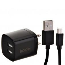 Cargador para pared con cable 2 puertos USB