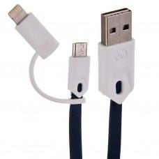 Cable USB con conector Lightning y micro USB T3