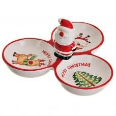 Fuente para bocaditos Merry Christmas Dolomita