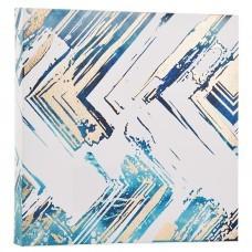 Cuadro Abstracto Blanco / Azul / Dorado