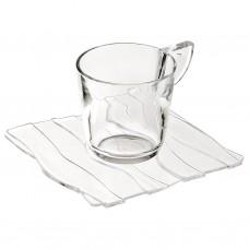Juego de tazas y platos Ondas Clear Adamo