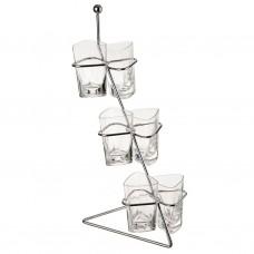 Juego de 7 piezas vasos para postre con base Novo