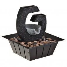 Fuente de agua eléctrica Mini cuadrado con piedras