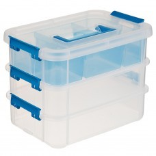 Caja organizadora 3 niveles apilable Sterilite