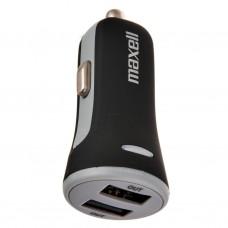Cargador para auto con 2 puertos USB Maxell