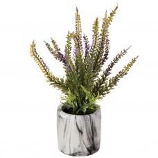 Planta artificial con maceta de mármol Flores Lila Haus
