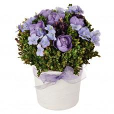 Mini arreglo floral con maceta Lavanda