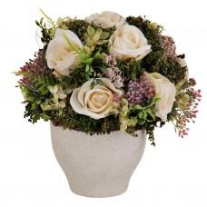 Arreglo floral con maceta Rosas Blancas