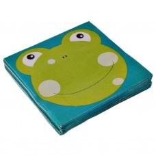 Juego de 20 servilletas lunch Frog