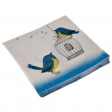 Juego de 20 servilletas lunch Blue Bird