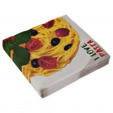 Juego de 20 servilletas lunch I Love Pasta