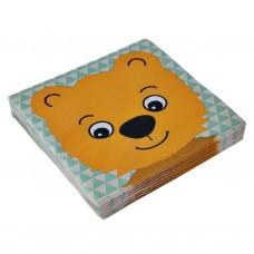 Juego de 20 servilletas lunch Bear
