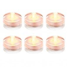 Juego de 6 velas tealight LED Sumergibles Clear Haus