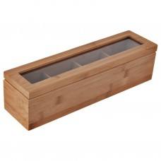 Caja para té Natural Bamboo Novo