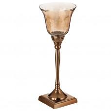 Porta vela copa con base Gold Haus