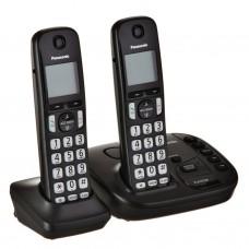 """Teléfono inalámbrico con 2 auriculares 1.8"""" KX-TGD222 Panasonic"""