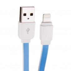 Cable plano Lightning Azul