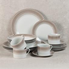 Vajilla de porcelana de 20 piezas para 4 puestos Rayas Haus