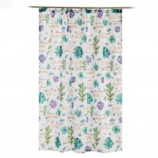Cortina para baño con ganchos Flores / Plantas