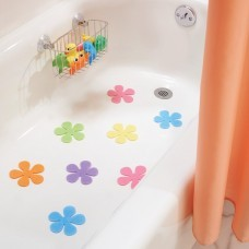 Juego de 8 mini apliques antideslizantes para ducha Floral Interdesign