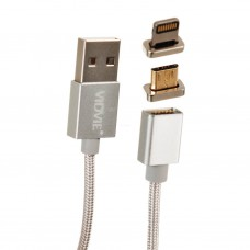 Cable magnético con conector Lightning / Micro USB CB420 VIDVIE