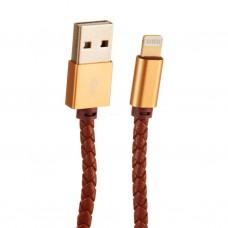 Cable Lightning con recubrimiento tipo cuero LDNIO