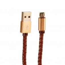 Cable micro USB con recubrimiento tipo cuero LDNIO
