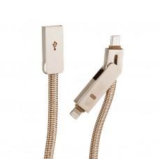 Cable 2 en 1 micro USB / Lightning LC87 LDNIO