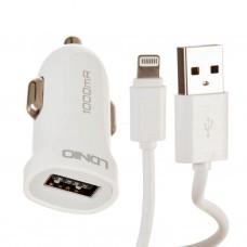 Cargador para auto con cable Lightning 1 USB / 1A DL-C17 iOS LDNIO