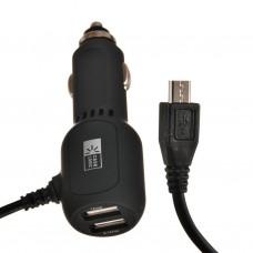 Cargador para auto con 2 USB y cable micro USB Case Logic