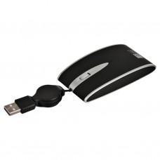 Mini mouse con cable retráctil USB Negro Case Logic