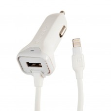 Cargador para auto con 1 puerto USB y Cable Lightning 3.4Amp Qmadix