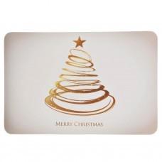 Individual Árbol Merry Christmas Dorado Kikemar