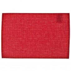 Individual laminado Lino Rojo Casa Linda