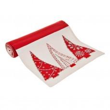 Camino de mesa Árboles Navidad Rojo / Blanco / Silver Haus