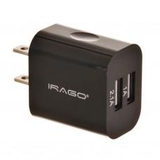 Cargador para pared 3.1A / 2 USB Irago