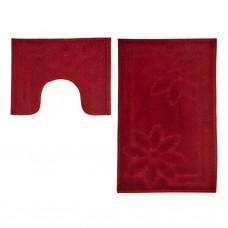 Juego de 2 alfombras con antideslizante para baño Flor Moorea Emmevi