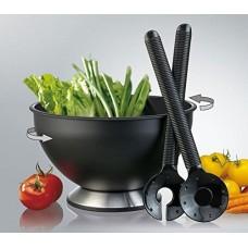 Ensaladera giratoria con cuchara y tenedor para servir Prodyne