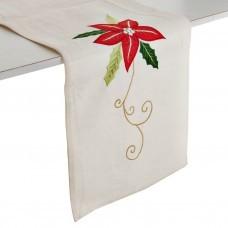 Camino de mesa Flor Navidad Beige Haus