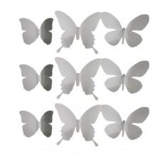 Juego de 9 apliques de pared Mariposas Umbra