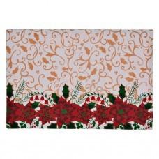 Individual Flor de Pascua Blanco / Rojo Haus